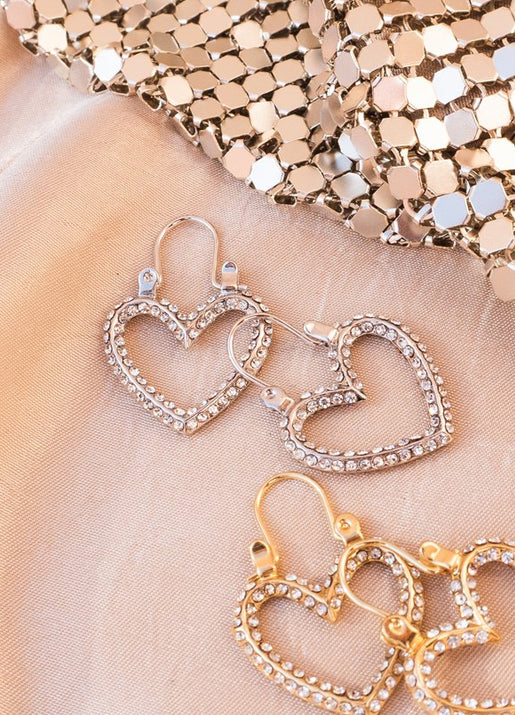 Pave Mini Heartbreaker Hoops