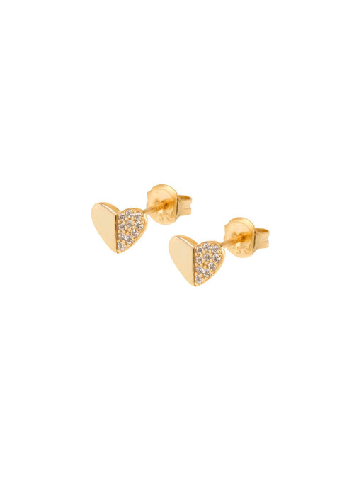 Heart Pave Stud Earring