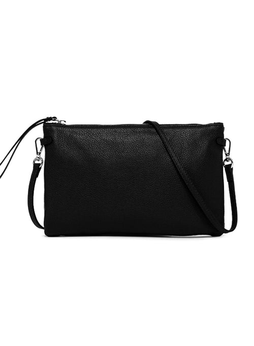 Hermy Double Clutch Bag Black