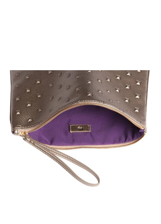 Editors Pouch Studs Metallic