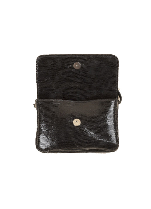 Simon Lizard Crossbody Black