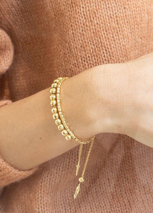 Laguna Large Adjustable Bracelet - Gold