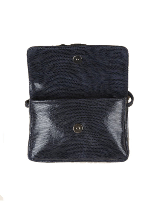 Simon Lizard Crossbody Navy