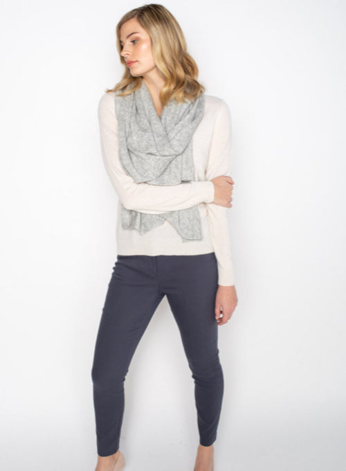 Cashmere Wrap - Lt. Grey Heather