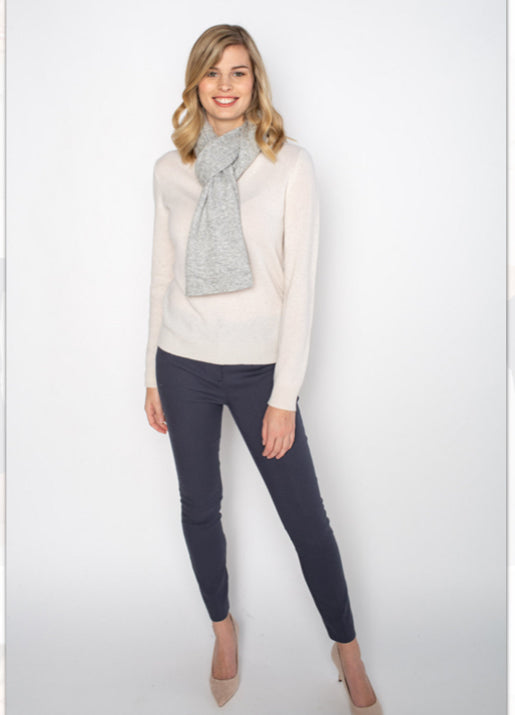 Cashmere Mini Wrap - Lt. Grey Heather
