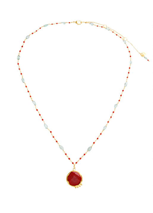 Maggi Necklace Red/Red