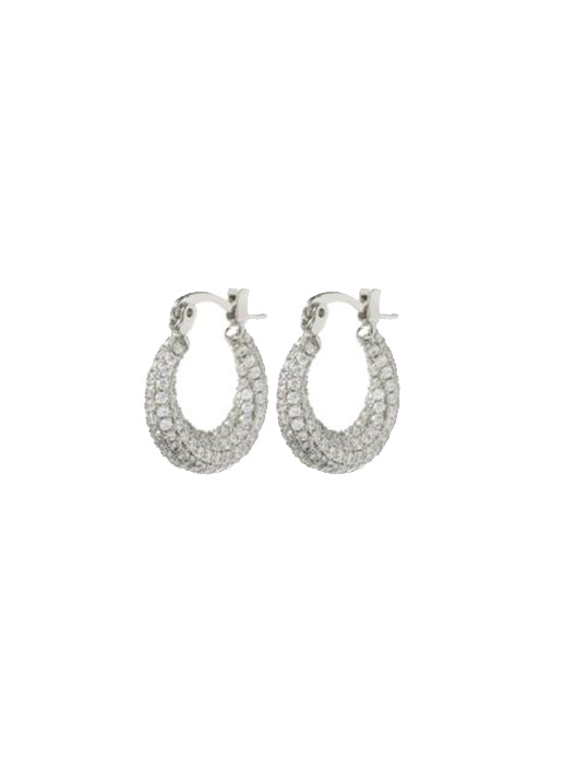 Pave Mini Martina Hoops