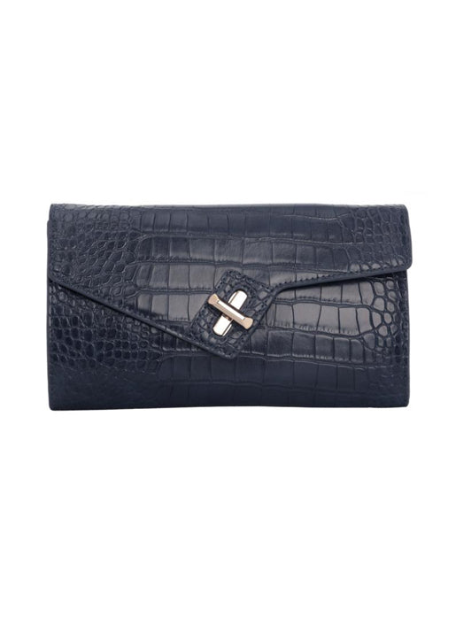 MILCK Clutch - Navy Croc