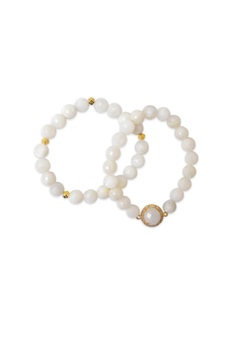 Vogue Bracelet Set of 2 - Moonstone