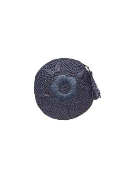 Luna Circle Clutch - Navy