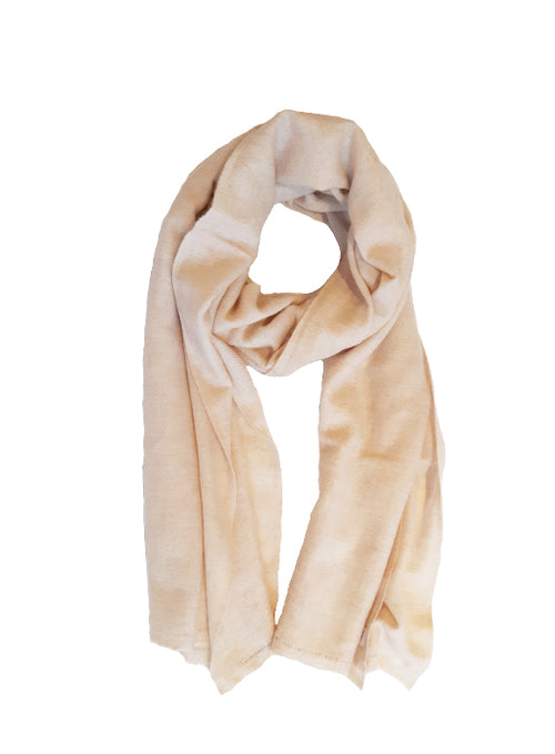 Cashmere Woven Frayed End Scarf - Oatmeal