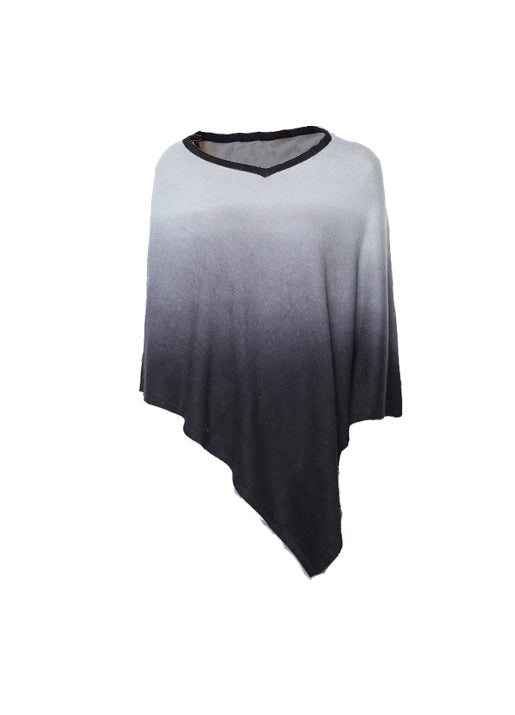 Cashmere Ombre Pull On Poncho