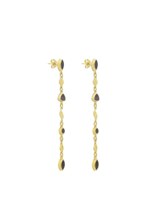 Macha Earrings - Textured Onyx