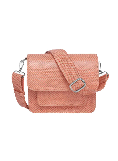 Cayman Pocket Boa Crossbody Bag - Peach