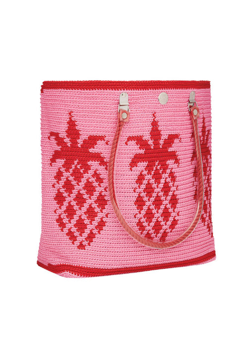 Pineapple Tote Pink & Red
