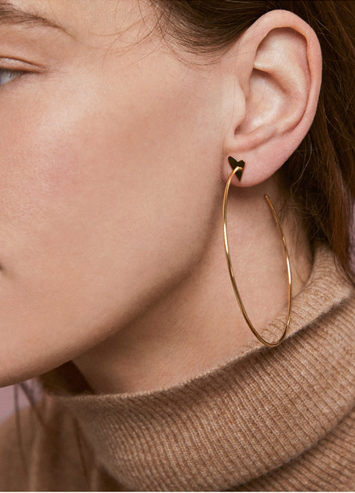 Rebel Heart Hoop Earrings