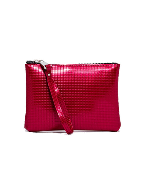Large Numbers Clutch Bag - Fuchsia