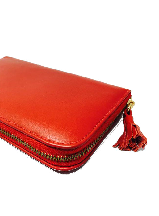 Brazilian Leather Wallet Red
