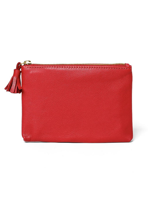 Zip Pouch - Red