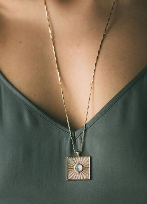 Relic Pendant Moonstone Necklace