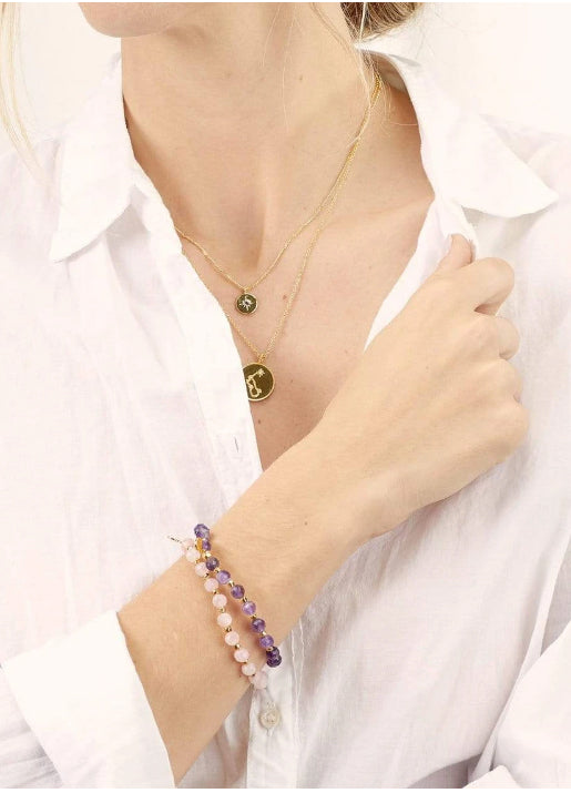 Power Gemstone Elastic Bracelet - TRANQUILITY