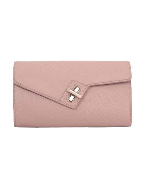 MILCK Clutch - Rose Pebble