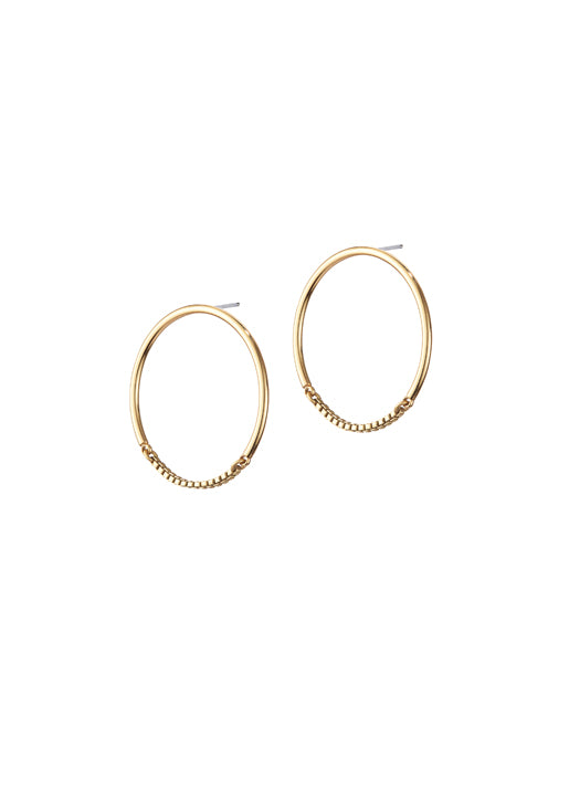 Sadie Hoops Gold