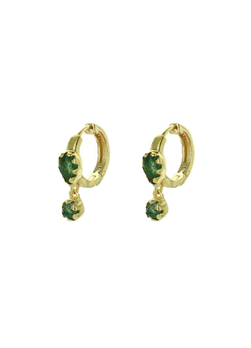 Safra Earrings - Aventurine