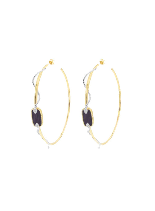 Sangha Hoop Earrings