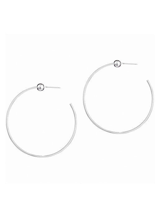 Icon Hoop Small Silver