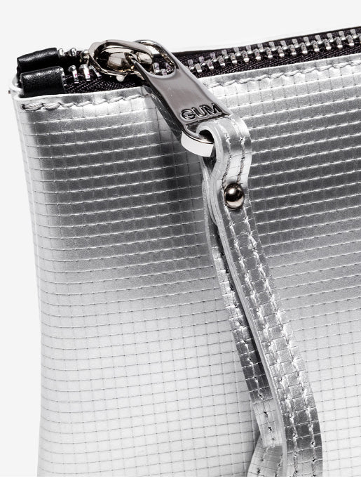 Large Numbers Clutch Bag - Silver