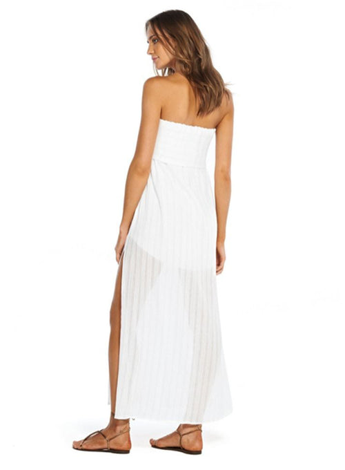 Klein Tess Strapless Dress White