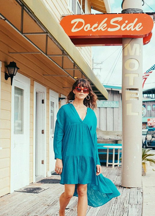 Thea Dress - Teal