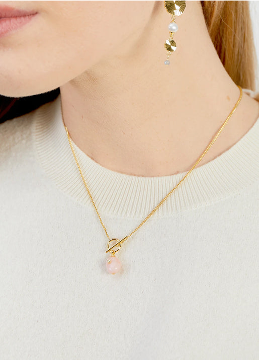 Alice Gem Toggle Necklace