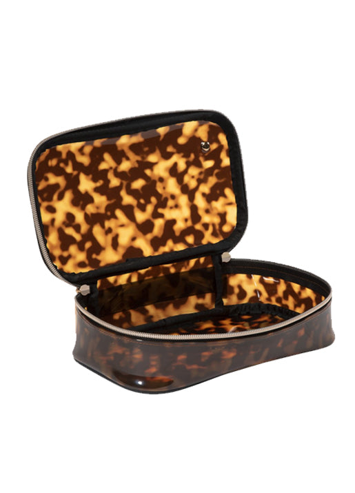 Claire Medium Makeup Case - Tortoise
