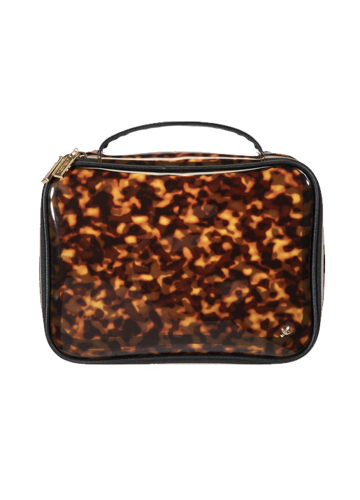 Claire Jumbo Make Up Case - Tortoise