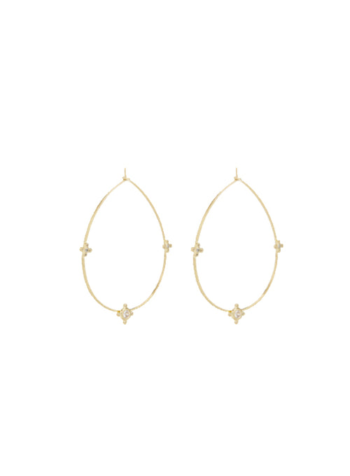 Tresor Wire Hoop Gold