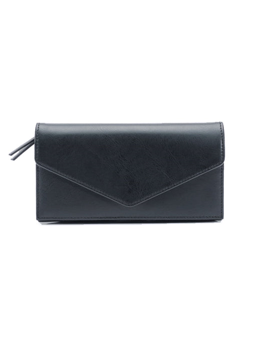 Leather Long foldover Wallet