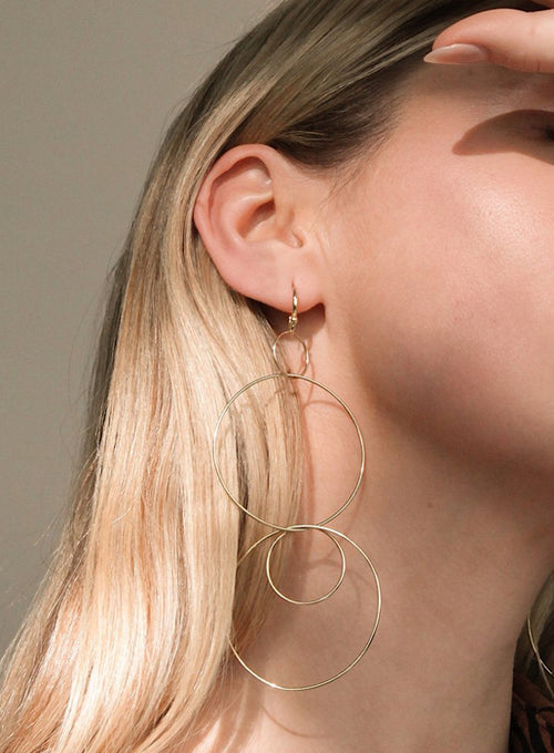 Whisper Wire Drop Hoops