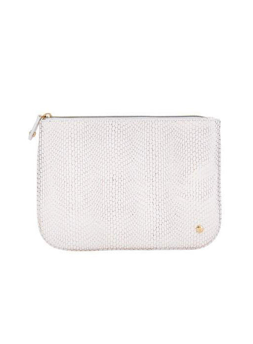 Large Flat Pouch White