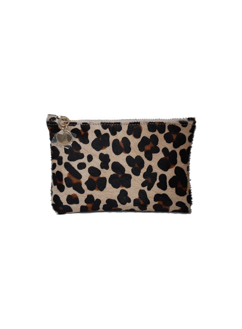 Leopard Print Small Zip Pouch