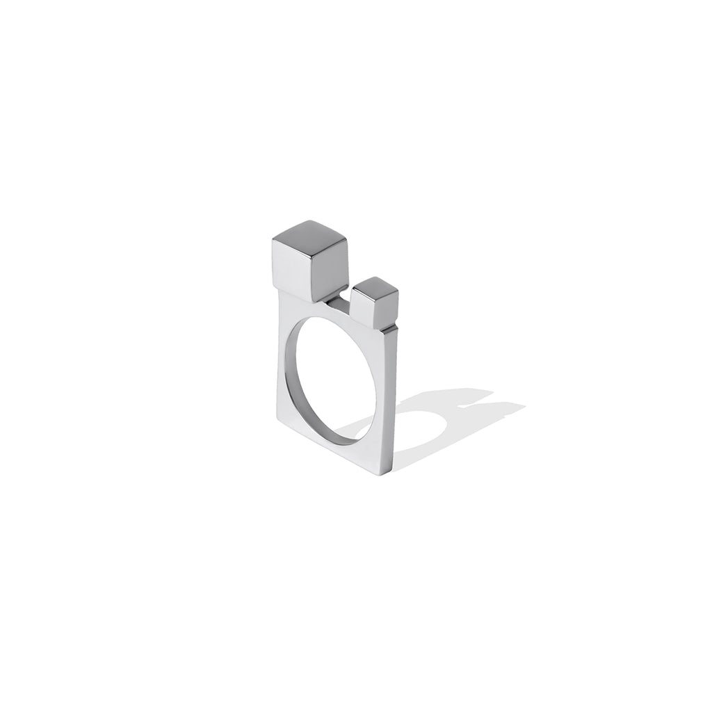 Avenue Small Cube Ring