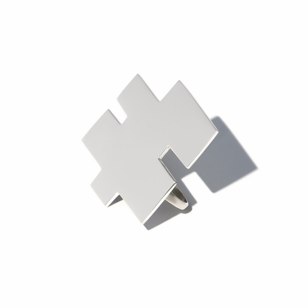 Large Puzzle Piece Ring