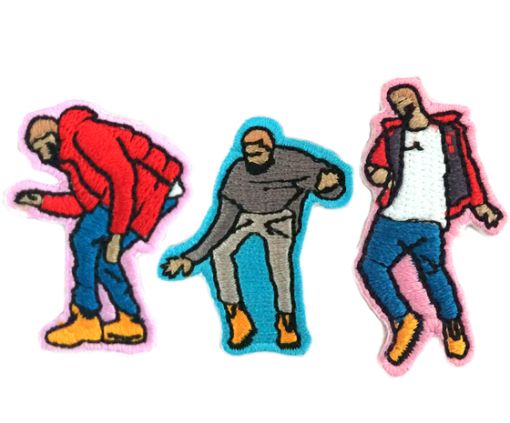 Dancing Drake Patches 3-Pack