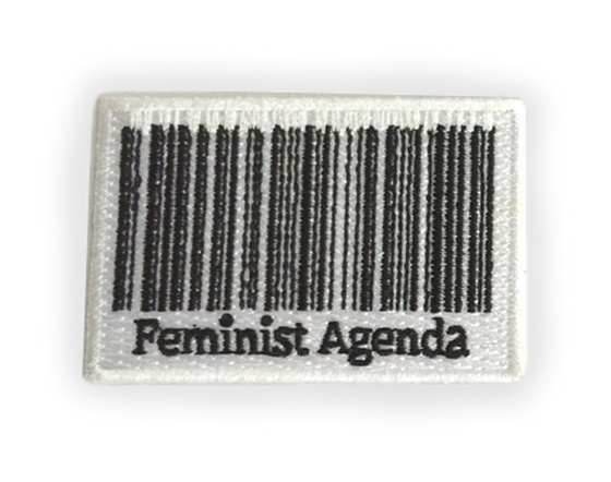 Feminist Agenda Iron-on Embroidered Patch