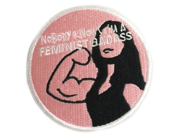Feminist Badass Iron-on Embroidered Patch