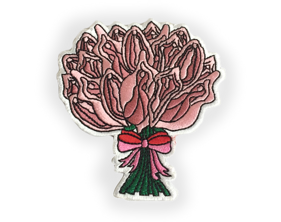 Flower Pu**sy Bouquet Iron-on Embroidered Patch