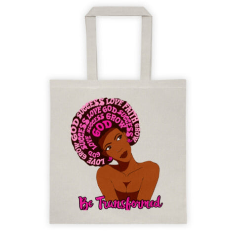 God First Tote Bag - Be Transformed Tees N Things