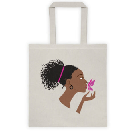 Butterfly Kisses Tote Bag - Be Transformed Tees N Things