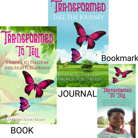 Transformed To Tell : Journey To Freedom Through Forgiveness Book BUNDLE - Be Transformed Tees N Things